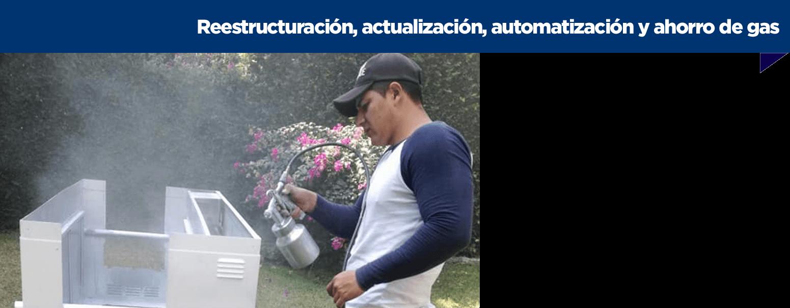Reestructuración, actualización, automatización y ahorro de gas